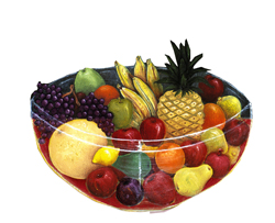 bowl and fruit